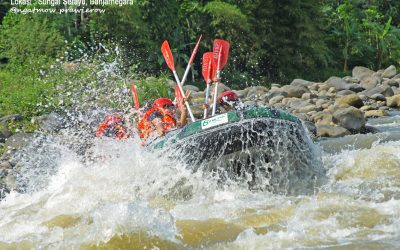 Berbasah basah memacu adrenalin di Sungai Serayu